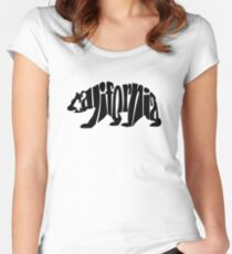 black california bear Women's Fitted Scoop T-Shirt