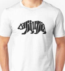 schwarzer Kalifornien-Bär Slim Fit T-Shirt