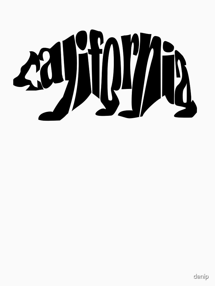 black california bear by denip