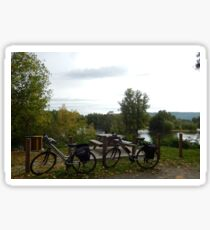 Cycling along the Dordogne Sticker