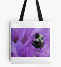 Bumble Bee on Rhododendron Tote Bag