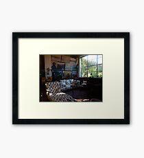 Monet's studio Framed Print