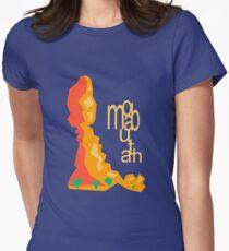 Balanced Rock Illustration Moab Utah Womens Fitted T-Shirt