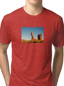 Balanced Rock Holga Style Photograph Tri-blend T-Shirt