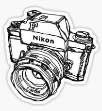 Nikon F Classic Film Camera Illustration Sticker