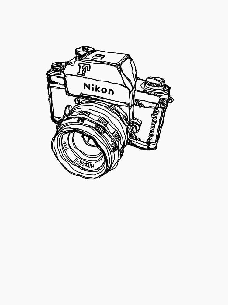 Nikon F Classic Film Camera Illustration by strayfoto