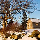 Chapel at Rocco Point in Winter by Debbie  Roberts