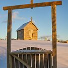 Chapel at Rocco Point in Winter II by Debbie  Roberts