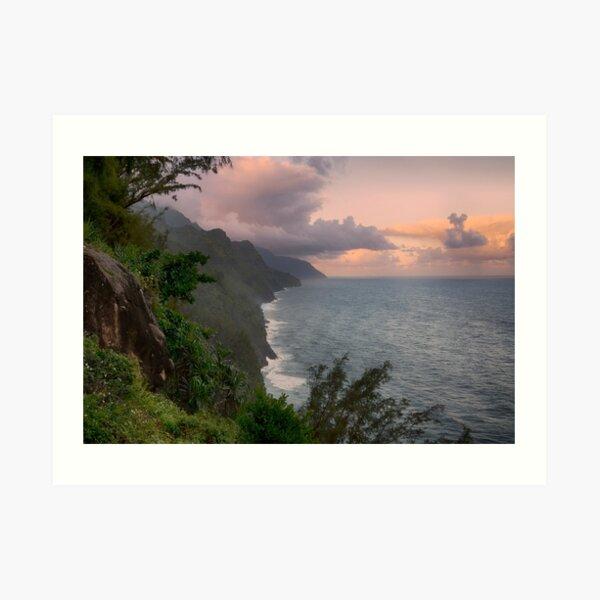Napali Coast, Sunrise - Kauai Art Print