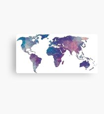 geometric watercolor continent Canvas Print