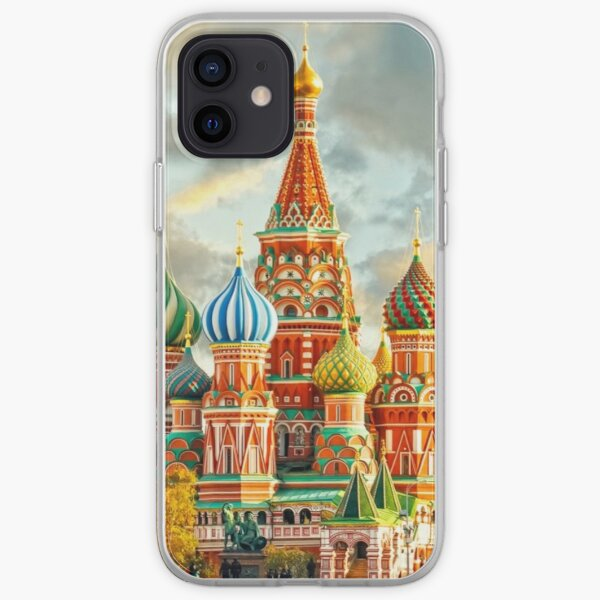 The majestic St. Basil's Cathedral, Moscow iPhone Soft Case