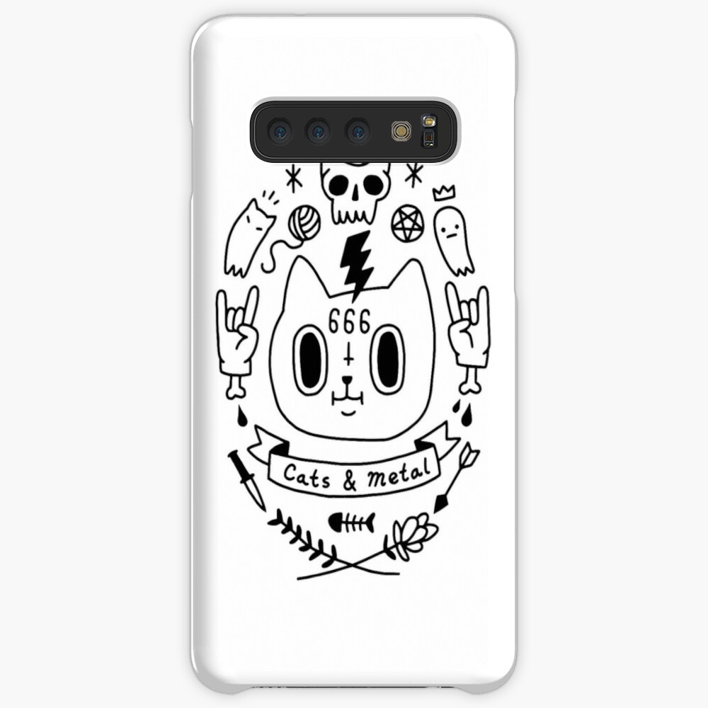 Cats & Metal Case & Skin for Samsung Galaxy