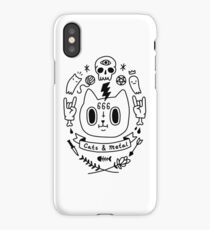 Cats & Metal iPhone Case/Skin