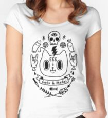 Cats & Metal Fitted Scoop T-Shirt