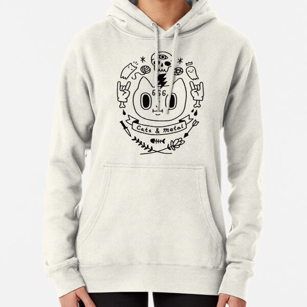 Cats and Metal Pullover Hoodie