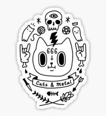 Cats & Metal Sticker