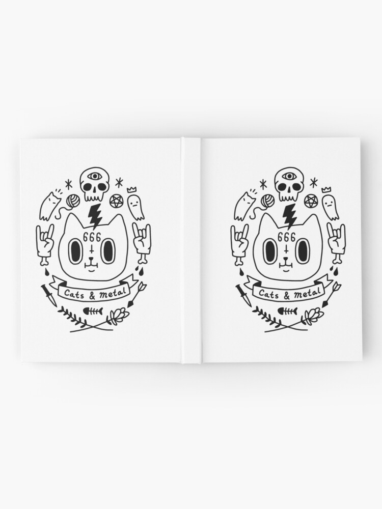 Alternate view of Cats & Metal Hardcover Journal