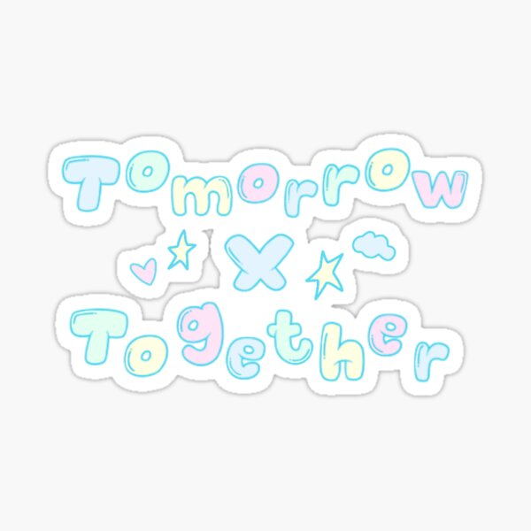 Logo Pastel Tomorrow X Together Sticker