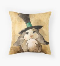 Rabbit In A Magician's Hat Throw Pillow
