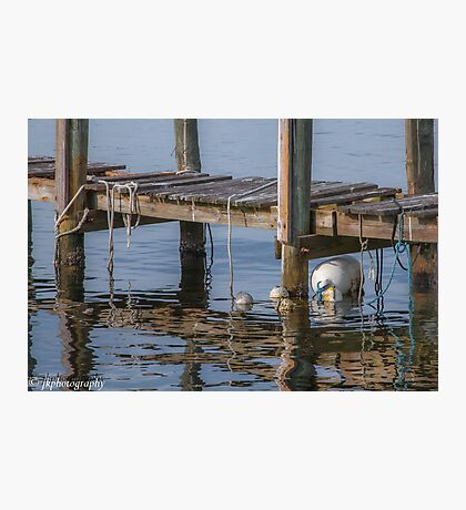 Dock and Buoys  Photographic Print