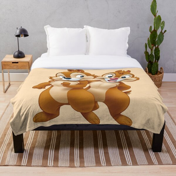 squirrel, Chip, and Dale Chipmunks Throw Blanket