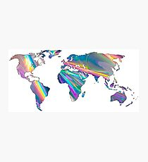 holographic continents Photographic Print