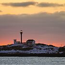 Glowing Cape Forchu Sunset by Debbie  Roberts