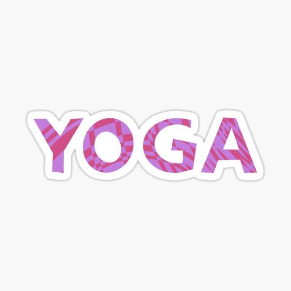 yoga meditation logo design Sticker