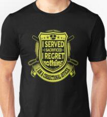 Correctional Officer I served I regret nothing Slim Fit T-Shirt