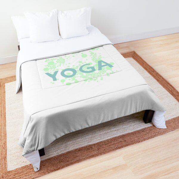 yoga meditation font symbol Comforter