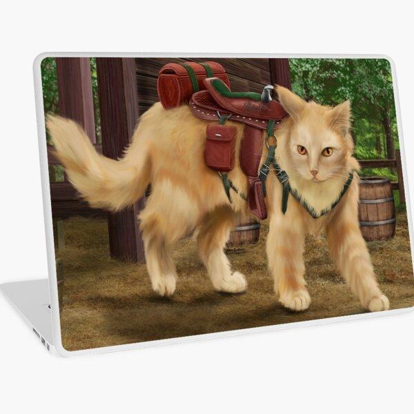 Cat in Saddle Laptop Skin