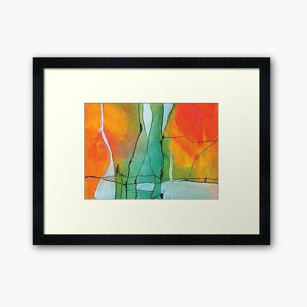 Abstraktes Bild Gerahmter Kunstdruck
