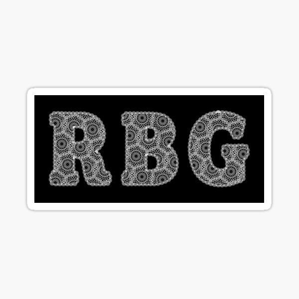 RBG lace design, Ruth Bater Ginsburg, lace collar artwork  Sticker