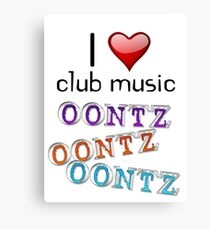 I heart club music Canvas Print