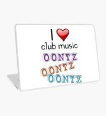 I heart club music Laptop Skin