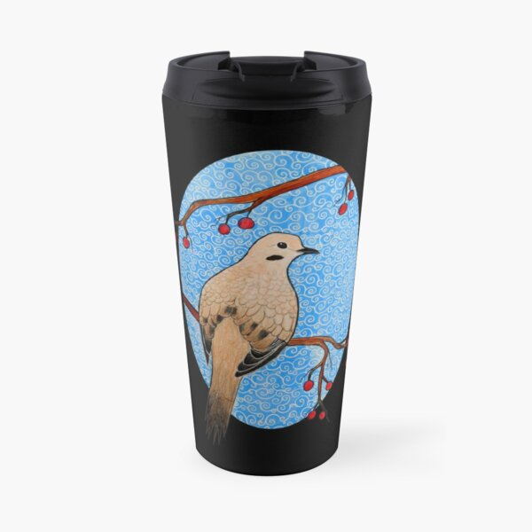 Good Mourning, Dove (With a Dark Background) Travel Mug