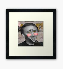 Nic Cage Photoshop Framed Print