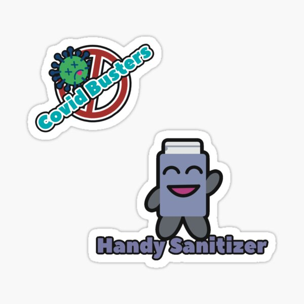 Covid Busters Sticker