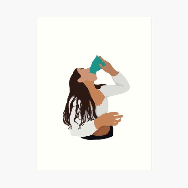 Sienna Mae Gomez tiktok sticker Art Print