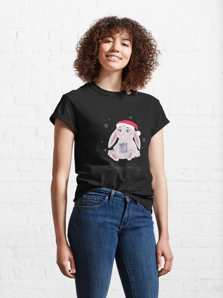 Alternate view of HOLIDAY BUNNY Classic T-Shirt