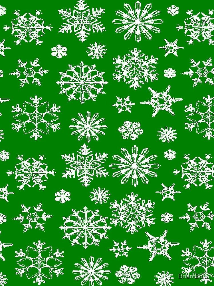 Green Snowflake by brianbula