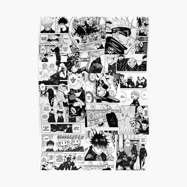 Jujutsu Kaisen manga collage Poster