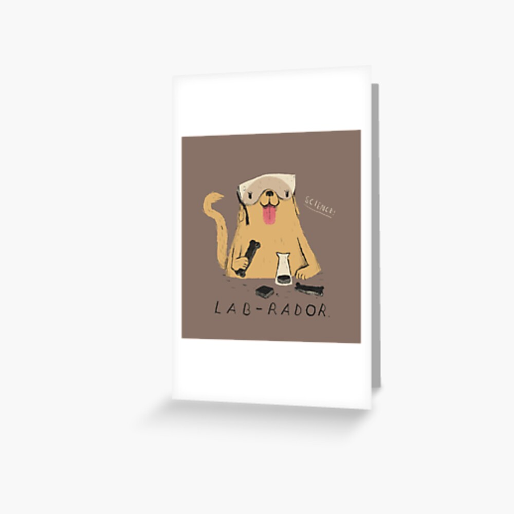 lab-rador Greeting Card