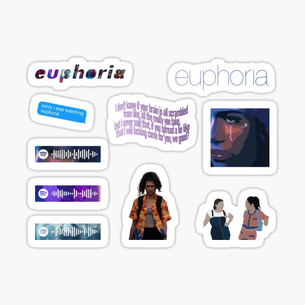 euphoria pack Sticker
