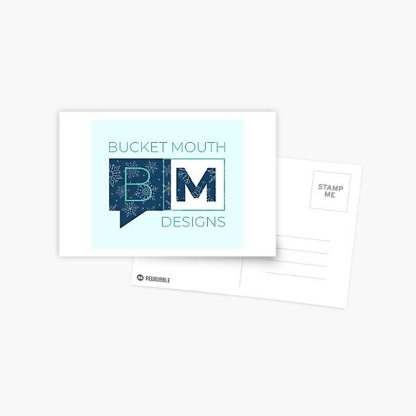 Bucket Mouth Designs Logo - Winter Version Postcard