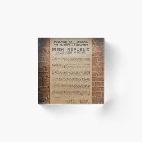 Irish Proclamation of Independence Acrylic Block