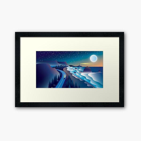 Coast Drive Framed Art Print