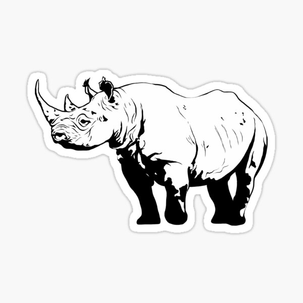 Black Rhino  Sticker