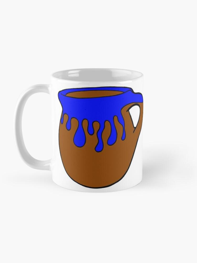 Alternate view of Coffee Porque Adulting Es Hard blue Mug