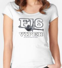 F16 fighter the Viper Women's Fitted Scoop T-Shirt